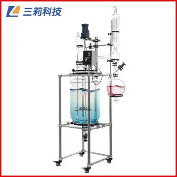 S212-30L双层玻璃反应釜防爆变频器30升玻璃反应器