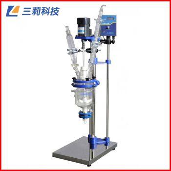 S212-1L双层玻璃反应釜 防爆变频器1升双层玻璃反应器
