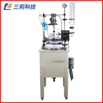 F-200L单层玻璃反应釜定制200升大容量生产型筒型单层玻璃反应釜