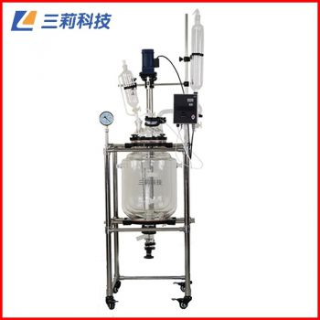 S312-50L三层玻璃反应釜 50升玻璃反应器